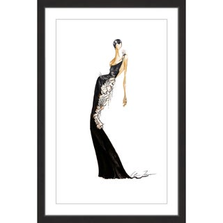 Marmont Hill - 'Black Light' by Claire Thompson Framed Painting Print