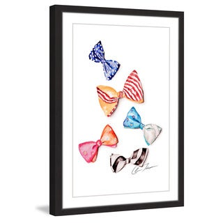 Marmont Hill - 'Bowties' by Claire Thompson Framed Painting Print