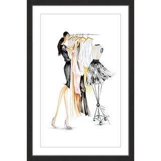 Marmont Hill - 'Clothes Rack' by Claire Thompson Framed Painting Print