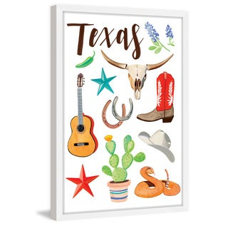 Marmont Hill - 'Texas 4' by Molly Rosner Framed Painting Print