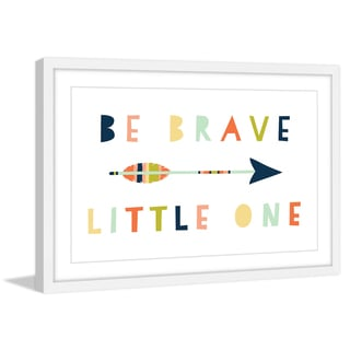Marmont Hill - 'Be Brave Little One' by Melanie Clarke Framed Painting Print