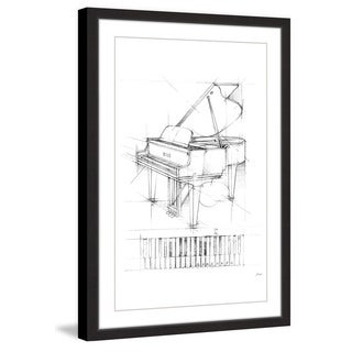 Marmont Hill - 'Piano Sketch I' Framed Painting Print