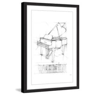 Marmont Hill - Handmade Piano Sketch I Framed Print