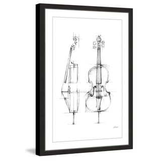 Marmont Hill - 'Cello Sketch' Framed Painting Print