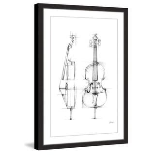 Marmont Hill - 'Cello Sketch' Framed Painting Print - Multi