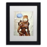 Craig Snodgrass 'Humans Yuck!' Matted Framed Art