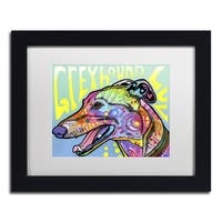 Dean Russo 'Greyhound Luv' Matted Framed Art