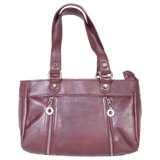Scully Red Leather Gussetted Shoulder Handbag