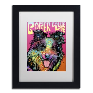 Dean Russo 'Border Collie Luv' Matted Framed Art