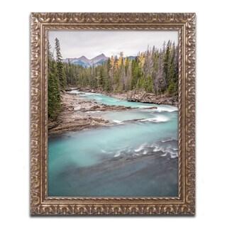 Pierre Leclerc 'Kicking Horse River' Ornate Framed Art
