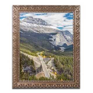 Pierre Leclerc 'Icefield Parkway' Ornate Framed Art