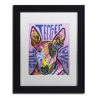 Dean Russo 'Bull Terrier Luv' Matted Framed Art