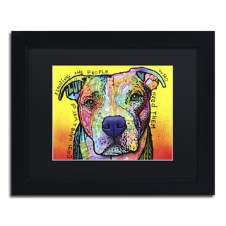 Dean Russo 'Dogs Have A Way' Matted Framed Art