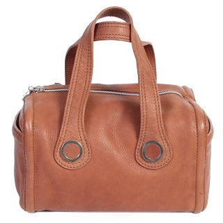 Scully Leather Brown Satchel Handbag