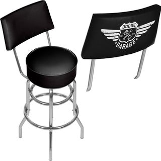 Dodge Garage Bar Stool with Back