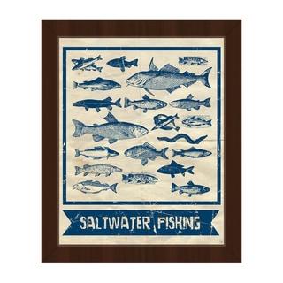 Saltwater Fishing' Main Framed Canvas Wall Art