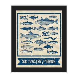 Saltwater Fishing Main Framed Canvas Wall Art