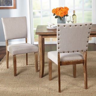 Simple Living Provence Nailhead Parson Dining Chairs (Set of 2)