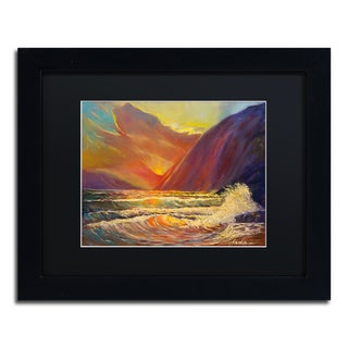 Manor Shadian 'Hawaiian Coastal Sunset' Matted Framed Art