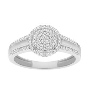 Trillion Designs 10k White Gold 1/8ct TDW Diamond Engagement Ring (H-I, I1-I2)