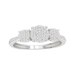Trillion Designs Sterling Silver 1/5ct TDW Round-cut Diamond Engagement Ring (H-I, I1-I2)