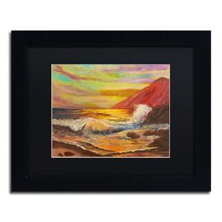 Manor Shadian 'Ka'ena Coast Sunset' Matted Framed Art