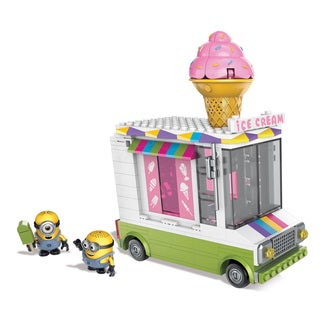 Mega Bloks Despicable Me Mutlicolored Plastic Buildable Ice Scream Truck Construction Set