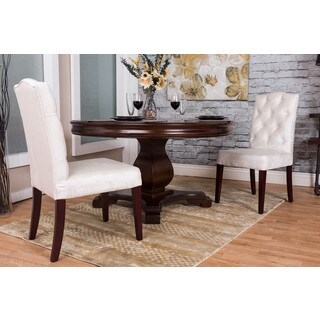Somette Ivory Tufted Chenille Dining Chair (Set of 2)