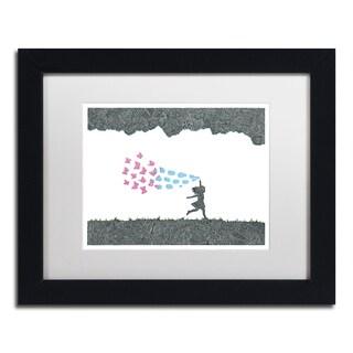Viz Art Ink 'Butterfly Bubbles' Matted Framed Art