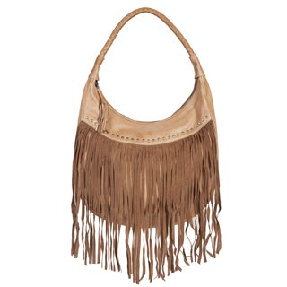 Scully Leather Ladies Brown Soft Leather Fringe Handbag