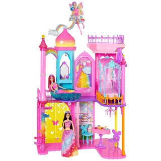 Barbie Kids' Rainbow Cove Plastic Princess Castle Playset