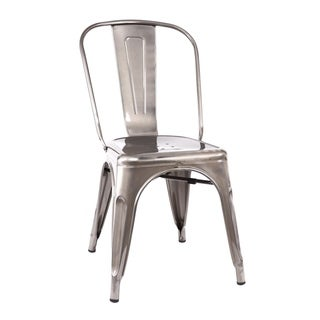 Amalfi Gunmetal Steel Side Chair (Pack of 4)