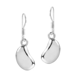 Trendy Bean Shape Sterling Silver Dangle Everyday Earrings (Thailand)