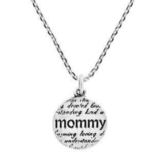 Description of My Mommy Message Charm .925 Silver Necklace (Thailand)