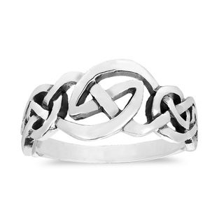 Love Intertwine Continuous Celtic Knot Sterling Silver Ring (Thailand)