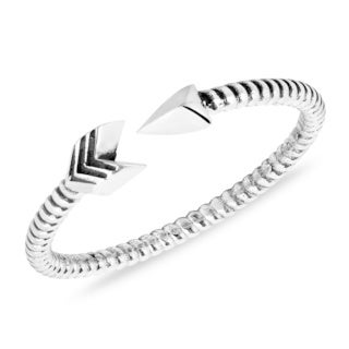 Valiant Arrow Wrap Sterling Silver Everyday Ring (Thailand)