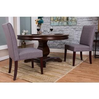 Somette Slate Linen Dining Chair (Set of 2)
