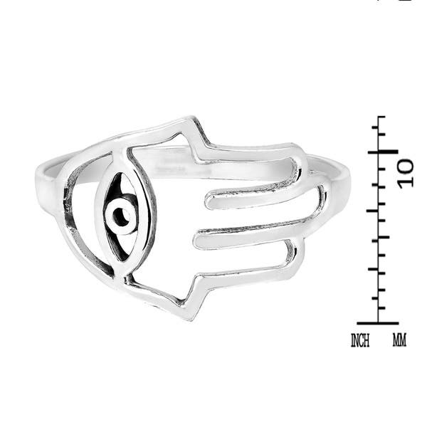 Silver .925 Handmade Hamsa and Evil Eye Dangle Earrings
