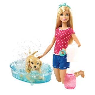 Mattel Barbie Splish Splash Pup Plastic Playset