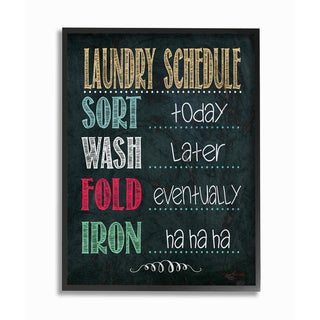 Stupell 'Laundry Schedule' Chalkboard Framed Giclee Texturized Art