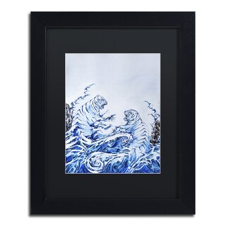 Marc Allante 'The Crashing Waves' Matted Framed Art