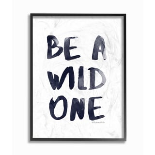 Stupell lulusimonSTUDIO 'Be A Wild One' Watercolor Glam Framed Giclee Texturized Art
