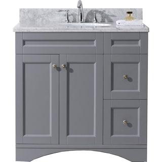 Elise 36-in Carrara White Marble Single Bathroom Vanity Set