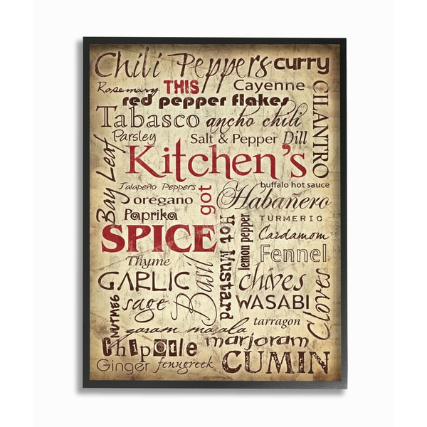Kitchen Es Typography Framed Giclee Texturized Art On Free Shipping Orders Over 45 12983528