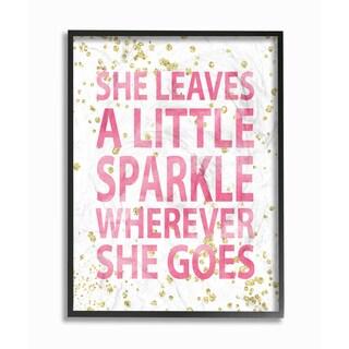 She Leaves a Little Sparkle' Framed Giclee Texturized Art