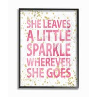 She Leaves a Little Sparkle' Framed Giclee Texturized Art