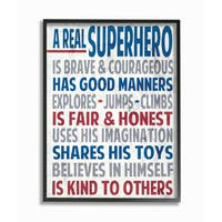 A Real Superhero' Typography Framed Giclee Texturized Art