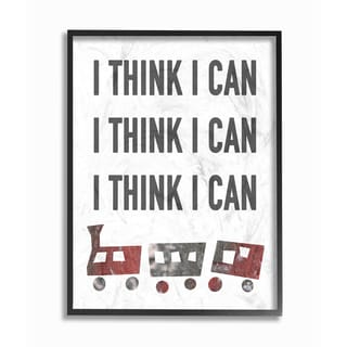 Stupell 'I Think I Can' Typography Framed Giclee Texturized Art