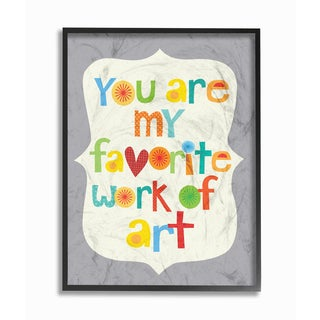 You Are My Favorite Work of Art' Colorful Framed Giclee Texturized Art
