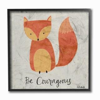 Be Courageous Fox' Framed Giclee Texturized Art